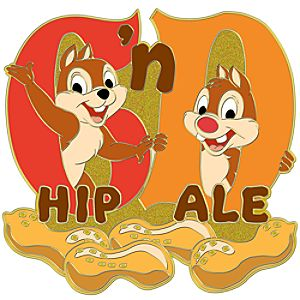 Initial Letter Series Chip an Dale Pin