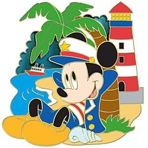 Nautical Mickey Mouse Pin