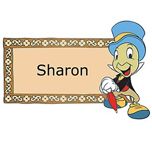 Personalized Name Tag Jiminy Cricket Pin