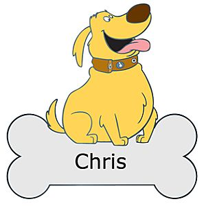 Personalized Nametag Dug Pin