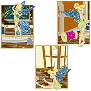 Sweet Tinker Bell Pin Set -- 3-Pc.