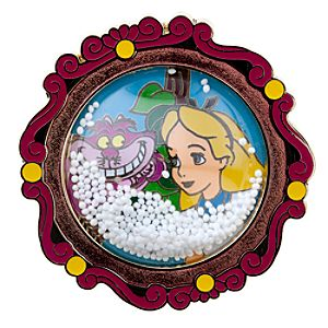 Snowglobe Alice in Wonderland Pin