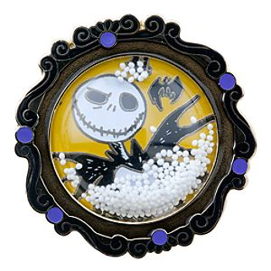 Snowglobe Jack Skellington Pin