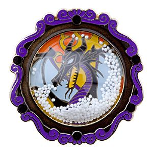 Snowglobe Maleficent Pin