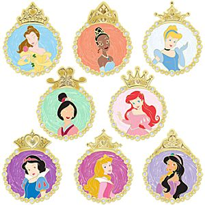 Pearl Medallion Disney Princess Pin Set -- 8-Pc.