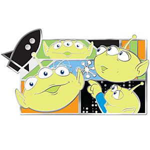 Many Faces of Disney Series Little Green Aliens Pin