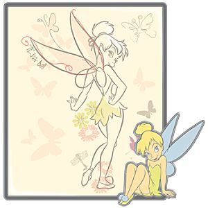 Picture Art Series Tinker Bell Pin