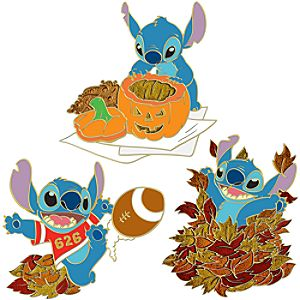 Autumn Stitch Pin Set -- 3-Pc.