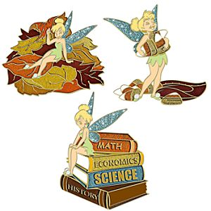 Autumn Tinker Bell Pin Set -- 3-Pc.