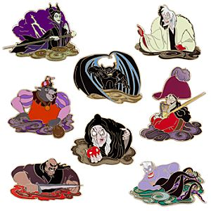 Halloween 2010 Mystery Pin Set -- 4-Pc.