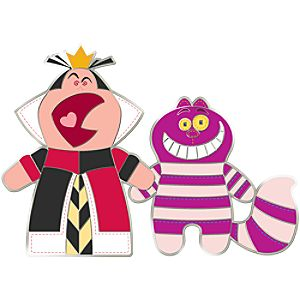 Pook-a-Looz Series Queen of Hearts and Cheshire Cat Pin