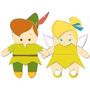 Pook-a-Looz Series Peter Pan and Tinker Bell Pin