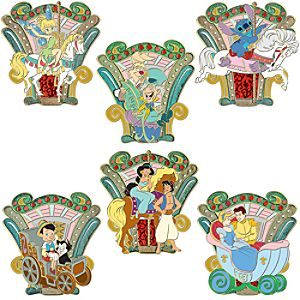 World of Disney Carousel Pin Set -- 6-Pc.