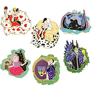 Evil Disney Divas Pin Set -- 6-Pc.