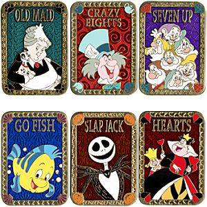 Card Game Pin Set -- 6-Pc.