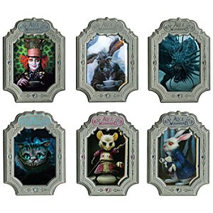 Alice in Wonderland Pin Set -- 6-Pc.