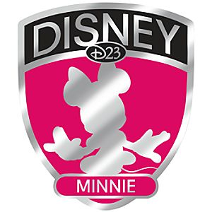 D23 Membership Exclusive Fab 5 Shield Series Minnie Mouse Pin