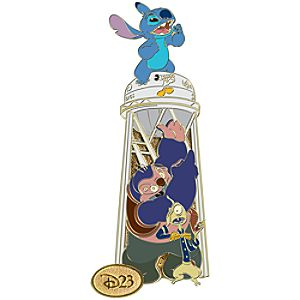 D23 Membership Exclusive Studio Series Stitch Water Tower Pin