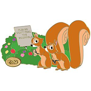 D23 Membership Exclusive Studio Series Dont Feed the Squirrels Pin