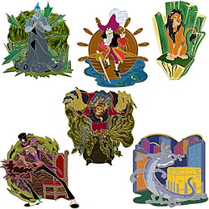 Disney Villains Boys Club Pin Set -- 6-Pc.
