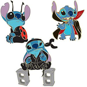 Halloween Costume Stitch Pin Set -- 3-Pc.
