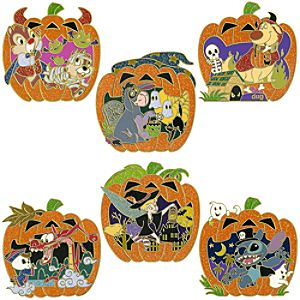 Halloween Pumpkin Pin Set -- 6-Pc.