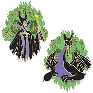 Jumbo Maleficent Pin Set -- 2-Pc.