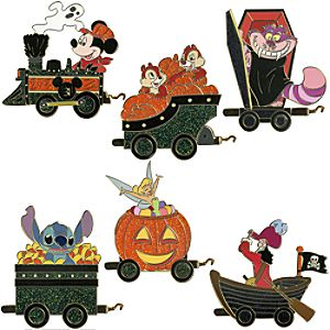 Halloween Train Pin Set -- 6-Pc.