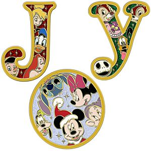 Jumbo Holiday Joy Pin Set -- 3-Pc.