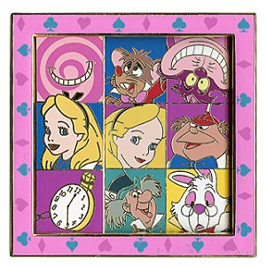 Slider Alice in Wonderland Pin