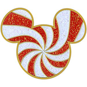 Candy Cane Mickey Mouse Pin
