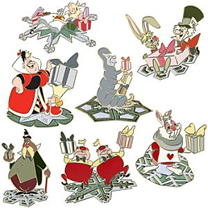 Snowflake Alice in Wonderland Pin Set -- 7-Pc.
