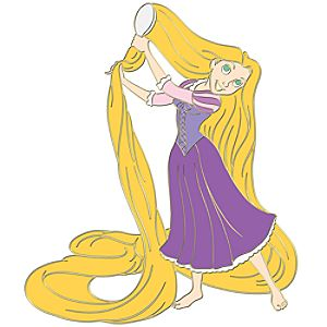 Tangled Rapunzel Pin