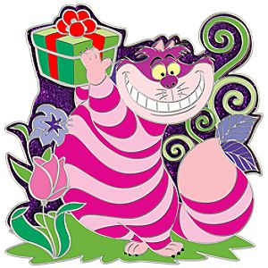 Holiday Cheshire Cat Pin