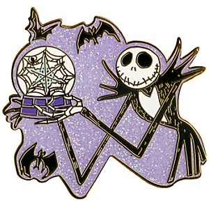 Snow Globe Jack Skellington Pin