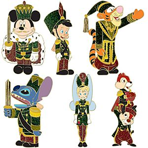 Nutcracker Mickey Mouse and Friends Pin Set -- 6-Pc.