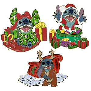 Christmas Stitch Pin Set -- 3-Pc.