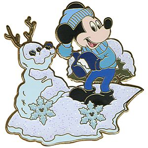Snowball Series Mickey Mouse Pin