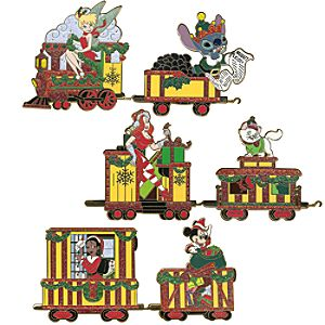 Christmas Train Pin Set -- 6-Pc.