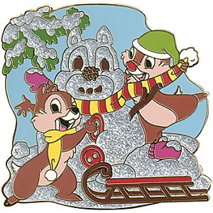 Snowman Series Chip an Dale Pin