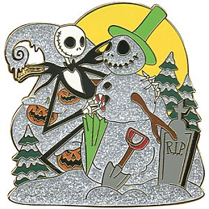 Snowman Series Jack Skellington Pin
