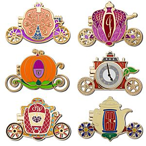 Disney Heroines Carriage Pin Set -- 6-Pc.