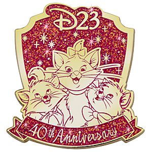 D23 Membership Exclusive 40th Anniversary The Aristocats Pin