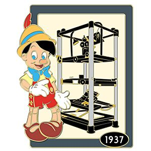 110th Legacy Collection Multiplane Camera Pinocchio Pin