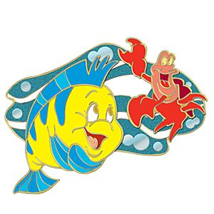 110th Legacy Collection Flounder & Sebastian The Little Mermaid Pin