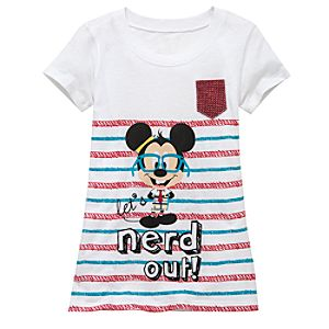 Nerds Mickey Mouse Tee for Girls
