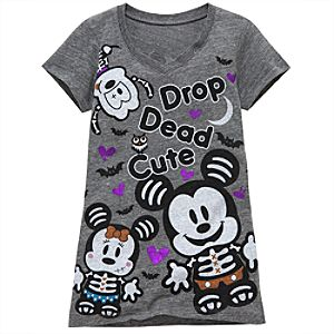 Foil Art X-Ray Minnie and Mickey Mouse Tee for Girls