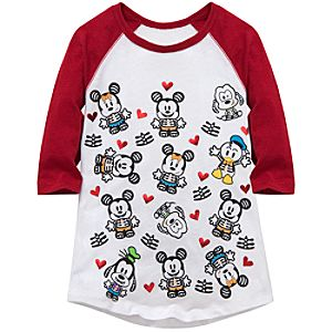 Raglan Sleeve X-Ray Mickey Mouse and Friends Tee for Girls