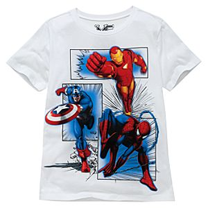 White Marvel Universe Tee by Mighty Fine for Boys