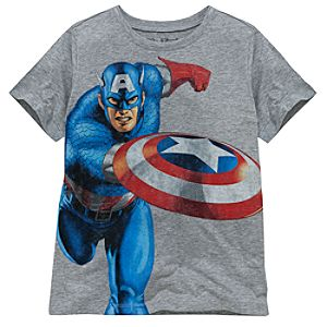 Captain America Tee by Mighty Fine for Boys